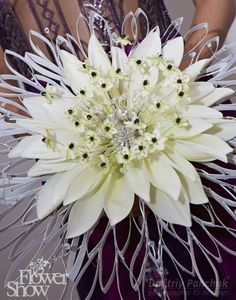 very creative, composite with lilly petals and ornithogalum blooms...