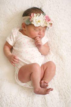 Infant Floral Crown Newborn to 12 Months by LoveSparklePretty
