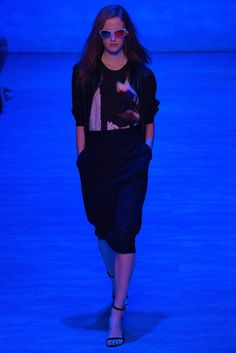 Rebecca Minkoff   Spring 2015 Ready-to-Wear Collection   Style.com  This look is meant to be viewed with 3-D glasses, to better appreciate the 3-D print inspired by the photo manipulation work of the photographer Deborah Turbeville.