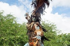 Reenactment of Maya culture