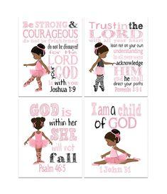 Nursery Art, Nursery Decor, Baby Ballerina, Inspirational Wall Art, Postcard Size, Proverbs, Bible Verses, Wall Art Prints, African