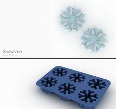 snow flake ice cube tray