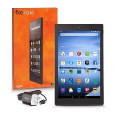 """Fire HD 10 Tablet, 10.1"""" HD Display, Wi-Fi, 16 GB - Includes Special Offers, Silver Aluminum"""