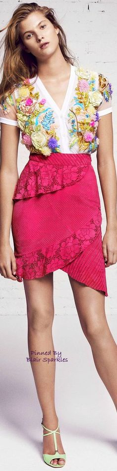Resort 2016 BLUMARINE ♕♚εїз | BLAIR SPARKLES | women fashion outfit clothing style apparel @roressclothes closet ideas