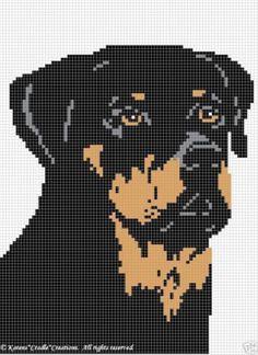 Crochet Patterns - Rottweiler Afghan Pattern