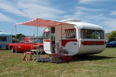 Fabulous! From Faye Lougher Here is our retro Lilliput caravan Ruby and our Thunderbird, taken at a car show last weekend. It was Ruby's first official outing!