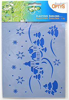 Šablona Zimní krajina, 20 x 15 cm, plast