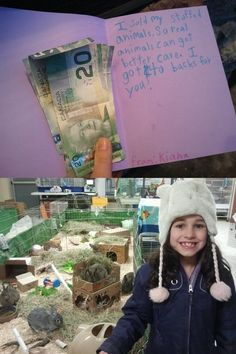 Future animal rights activist. What a wonderful little girl! Her parents must be so proud of her =)
