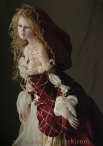 another extremely talented doll artist... this is 'little red... all grown up'