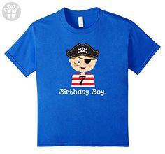 Kids Birthday Boy, 7th Birthday Pirate Party T-Shirt 8 Royal Blue - Birthday shirts (*Amazon Partner-Link)