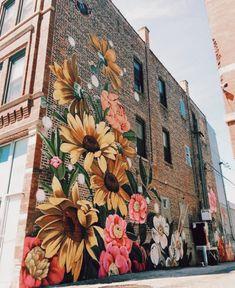 beautiful street art 💐 uploaded by ariel 🔮 on We Heart It Murals Street Art, Graffiti Art, Mural Art, Banksy Girl, Pics Art, Public Art, Pretty Pictures, Oeuvre D'art, Art Inspo