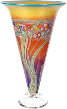 Ken Hansen and Ingrid Hansen - Hansen and Kastles - Tree and Vine series - hand blown glass, incorporating mille fiori