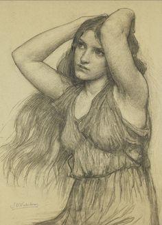Flora by John William Waterhouse (English, 1849 - 1917).