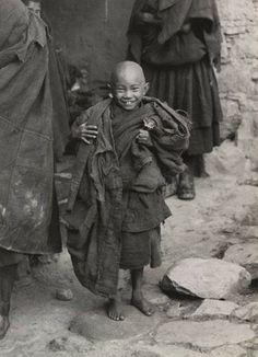 Tibet - Jeune moine tibétain Photo archive 1936