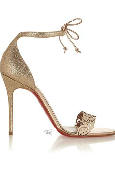 Christian Louboutin ● glitter-finished sandals