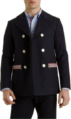 Thom Browne Rubber Lined Peacoat