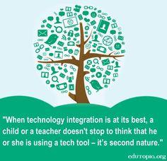 Tech integration and teaching quote via www.Edutopia.org