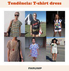 Que tal usar uma camiseta larga como vestido? Veja a aposta das fashionistas!