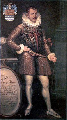 Retrato del conquistador Pedro de Alvarado con la Cruz de Orden de Santiago. ◆Guatemala - Wikipedia http://es.wikipedia.org/wiki/Guatemala #Guatemala