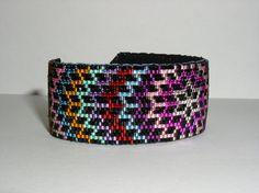Midnight Star Beaded Cuff Bracelet | by butterflysbeadhive