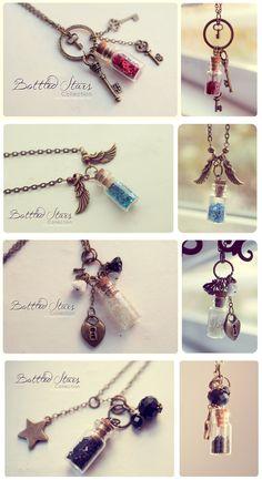 Bottled Stars. Necklace collection 2 by Bea-Gonzalez.deviantart.com on @deviantART
