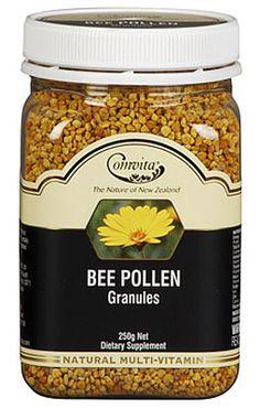 Comvita Bee Pollen Granules - Immune Support - Supplements by Category - Supplements Bee Pollen, Balanced Diet, New Zealand, Vitamins, Tasty, Dan, Food, Essen, Meals