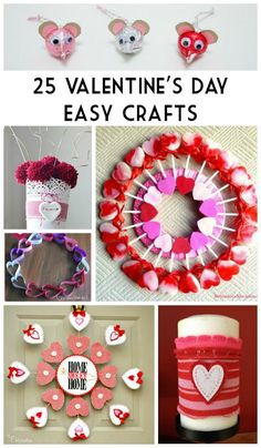 Tweet With Valentine's Day just around the corner it is time to start thinking about all of those parties and events your kids will be attending.  Check out these 25 Valentine's Day Easy Crafts that are perfect for doing with …