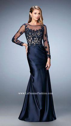 US$156.99 Wholesale 2016 Long Sleeves Taffeta Long Prom Dress / Formal Dress La Femme 21708 from - US.homecomingnightgirl.com