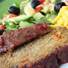 Delicious - better than beef! My Favorite Pork Turkey Meatloaf Recipe Veggie Meatloaf, Turkey Meatloaf Muffins, Ground Turkey Meatloaf, Pork Meatloaf, Meatloaf Recipes, Pork Recipes, Cooking Recipes, Healthy Recipes, Healthy Dinners