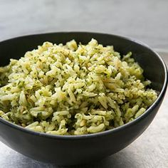Mexican Green Rice - sub coconut oil/brown rice
