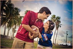 FSU & UF football rivals engagement shoot