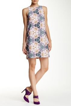 Ted Baker London - Illidia Floral Geo Print Shift Dress at Nordstrom Rack. Free Shipping on orders over $100.