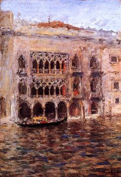 Venice - William Merritt Chase,1913  Chase (1849-1916) was an American painter, known as an exponent of Impressionism and as a teacher. He is also responsible for establishing the Chase School, which later would become Parsons The New School for Design.