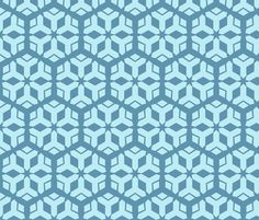 Mei_Snowflake_Pattern fabric by crumble_bee on Spoonflower - custom fabric