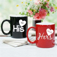 His And Her Wedding Shower Gifts : ... gifts 2016 personalized his and hers coffee mug personalized his and