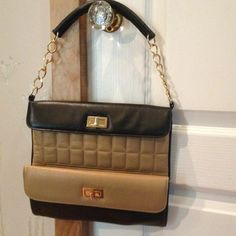 Ashneil black and beshe leather clutch bag Brand new, no tags.. Soft leather very spacious! Bags Clutches & Wristlets