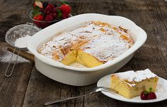 Yummy Food, Delicious Recipes, Camembert Cheese, Dairy, Sweet, Desserts, Puding Cake, Proper Tasty, Postres