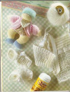 RECEITA TRICÔ FÁCIL: Lanas Stop N°61-Revista Tricô Bebês Baby Knitting, Burlap, Reusable Tote Bags, Kids, Collection, Free Knitting, Knitting For Kids, White Roses, Knitting And Crocheting