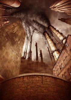 Premade background - Industry - Vashar23  #Industrial #Steampunk