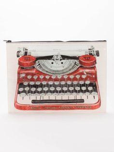 Typewriter Jumbo Pouch