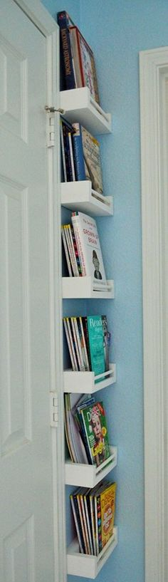 Trendy Bedroom Storage For Small Rooms Apartments Shelves Bedroom Storage, Diy Storage, Storage Ideas, Bedroom Organization, Book Storage, Organization Ideas, Kitchen Storage, Storage Shelves, Kitchen Shelves