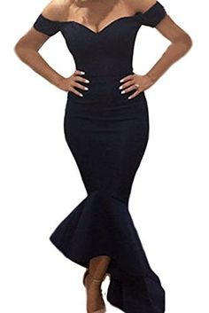 Astylish Womens Evening Dress Off Shoulder Flouncing Mermaid Formal Prom  Gowns  dresses  mermaiddresses Dress 8599aaefb