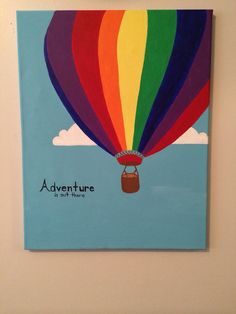 Hot air balloon canvas with quote