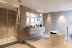 Bathroom in modern penthouse suite from C.P. Hart