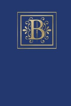 Ruled Monogram Journal B