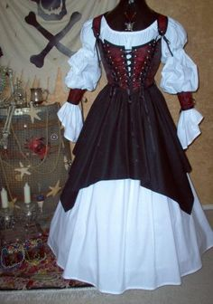 Wenchie, yet modest.  Perfect for Pirate Invasion weekend at the Faire <3