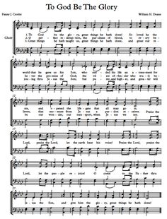 Free Choir Sheet Music - To God Be The Glory