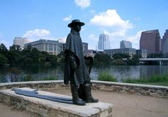 Stevie Ray Vaughn @ Lady Bird Lake (aka Towne Lake) Austin, TX. I've been here many times