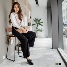 Simple Dress Korean Style Asian Style Street Style Taiwan Online Shop Fashion Style Kulot Pants
