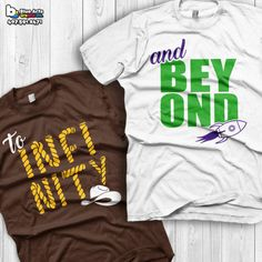 To Infinity and Beyond Shirts Disney Couples Shirts Toy story Custom Matching Shirts Couple T-shirts vacation shirts from BlueArtsGraphix on Etsy.